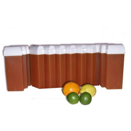 Cire à épiler Roll On Agrumes Miel 100 ml. Cire à épiler végétale et bio.