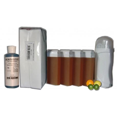 Kit épil 4 x 100 ml - MIEL AGRUMES - Cire à épiler