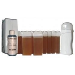 TOPAZ type MIEL - Kit épilation 12 x 100 ml de Cire à épiler