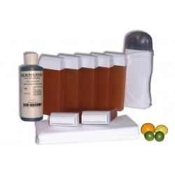 Kit épilation 7 x100 ml - MIEL AGRUMES - Cire à épiler