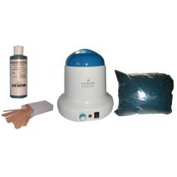 Kit épilation 800ml - Cire Pelable Outremer 1 kg Pastilles
