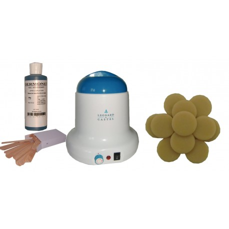 Kit épilation 800 ml - 1 kg cire pelable galets Blonde