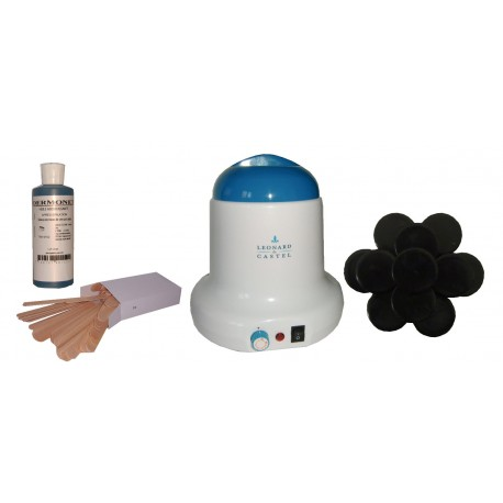 Kit épilation 800 ml. Cire Traditionnelle 1 kg Galets Epilom