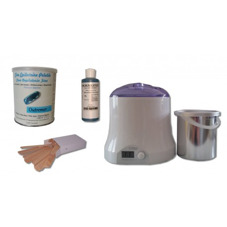 Kit épilation cire pelable OUTREMER - Pot de 800 ml