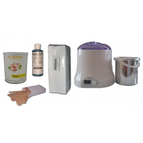 Cid Epil. Kit épilation 800 ml - Pot 800 ml Topaz type Miel Cire jetable