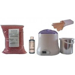 Cid Epil. Kit épilation 800 ml - Cire Pelable Rose 1 kg Perles