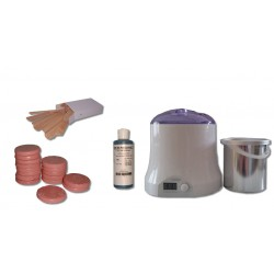 Cid Epil. Kit épilation 800 ml. 1 kg cire à épiler pelable galets ROSE