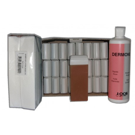 MIEL - Recharge cire roll on - 24 x 100 ml - Bandes, huile 500 ml