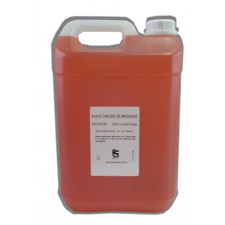Huile de massage Cannelle Orange, Chaude - 5 litres