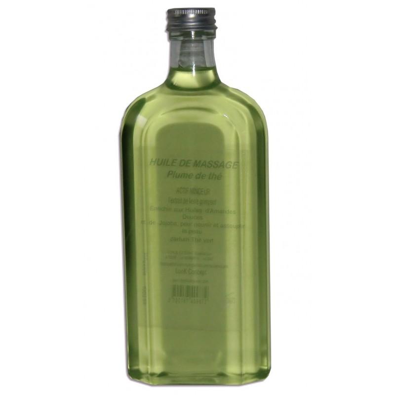 huile adoucissante pour le massage qualit s che parfum th vert. Black Bedroom Furniture Sets. Home Design Ideas
