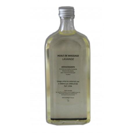 Huile adoucissante de massage pour le corps parfum Lavande, flacon de 500 ml