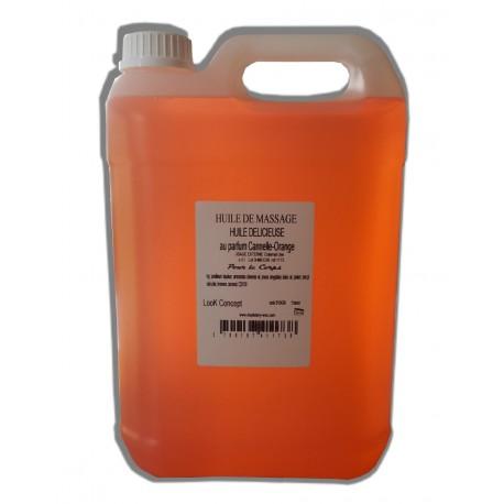 Délicieuse - Canelle Orange - Huile de massage adoucissante - 5 litres