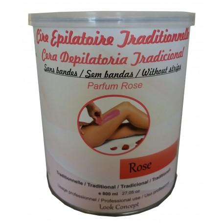 Cire chaude ROSE. Cire traditionnelle en pot