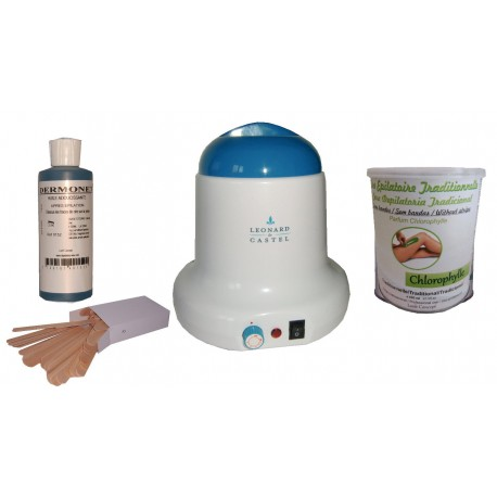Kit épilation VERTE, Pot 800 ml Cire traditionnelle
