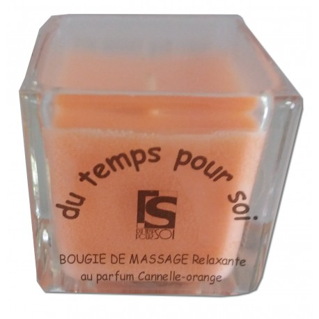 Bougie de massage 60g Cannelle Orange