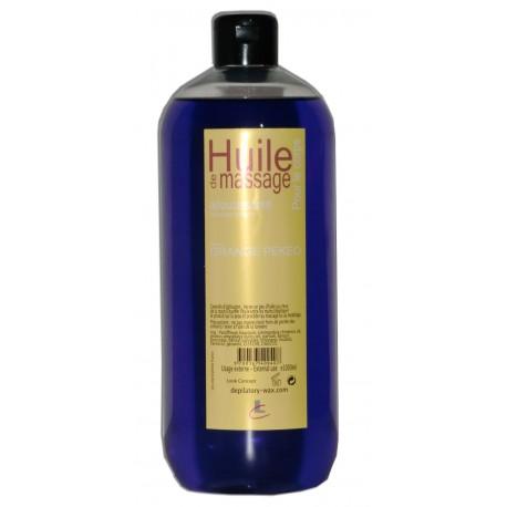 Huile adoucissante de massage pour le coprs parfum Orange pekeo, 1 litre