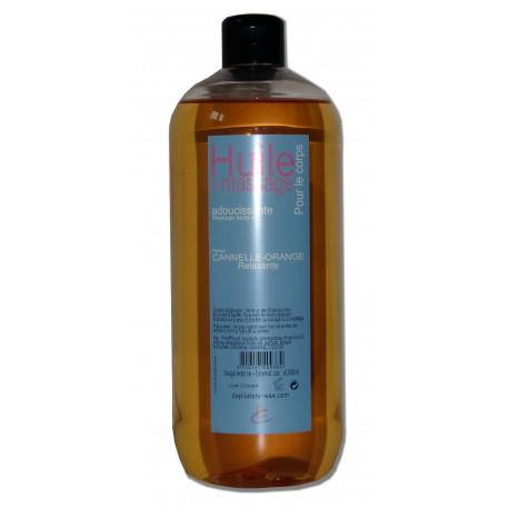 Huile Délicieuse adoucissante 1 litre, Canelle, Orange