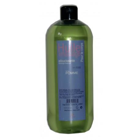 Huile adoucissante de massage, 1 litre, parfum Pomme pour le corps