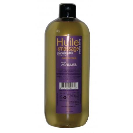 Huile adoucissante de massage, parfum Agrumes,1 litre pour le corps