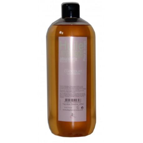 Huile adoucissante de massage pour le corps, parfumée chocolat 1 litre