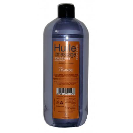 Huile de massage adoucissante pour le corps parfum Lavande, 1 litre
