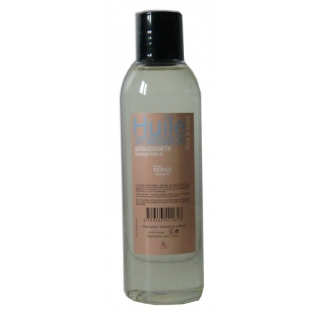 Huile de massage 200 ml adoucissante parfum Monoï.