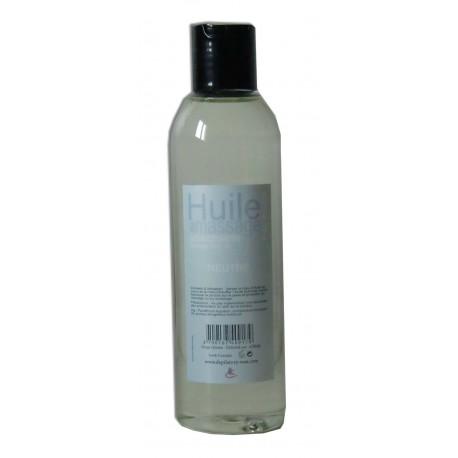 Huile adoucissante de massage pour le corps, Neutre et sans odeur, 200 ml