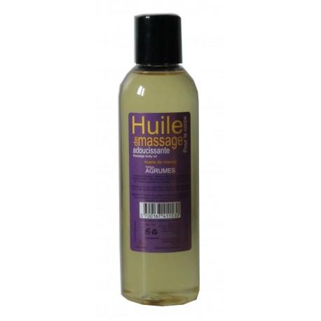 Huile adoucissante de massage parfumée aux agrumes, format de poche 200 ml
