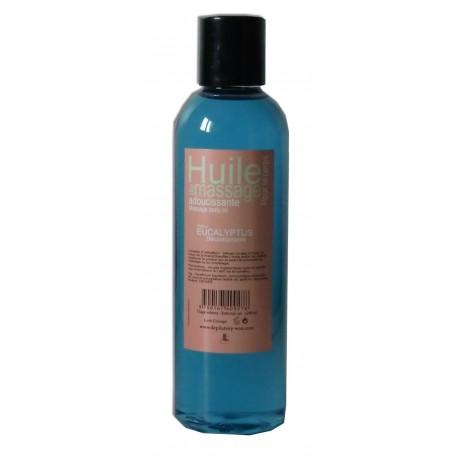 Huile adoucissante de massage parfumée à l'eucalyptus flacon de 200 ml