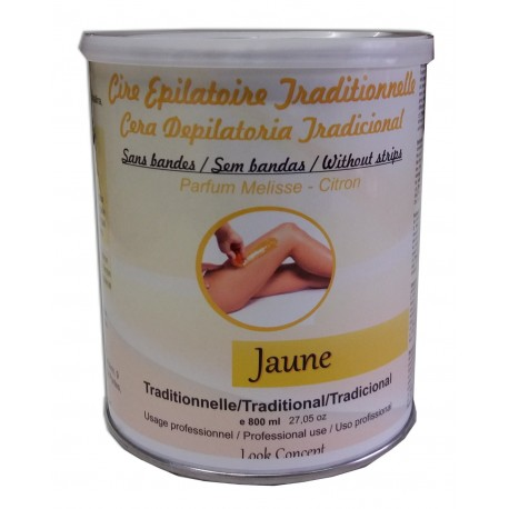 Pot 800 ml - Cire à épiler traditionnelle - Jaune