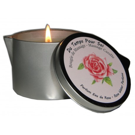 Bougie de massage parfum eau de rose