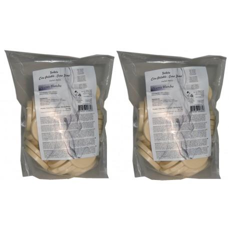 Nacrée blanche- 2 kg Galets de cire à épiler pelable