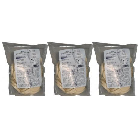 Lot de 3 kg de galets de cire fine nacrée blanche