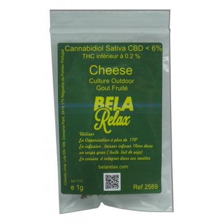 Cheese la fleur à fumer avec son cbd légal.