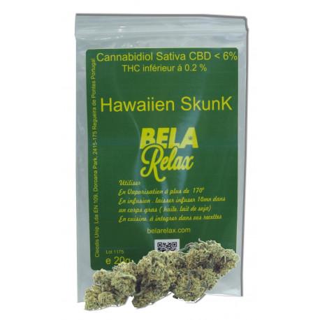 Hawaïen Skunk 20g. Fleurs CBD. pour se relaxer